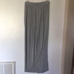 Green envelope maxi skirt medium